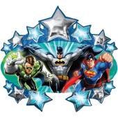 Justice League Luftballon aus Folie inklusive Helium