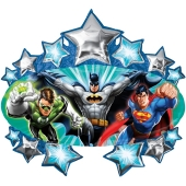 Justice League Luftballon aus Folie ohne Ballongas
