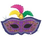 Luftballon aus Folie, Folienballon mit Ballongas, Karnevalsmaske