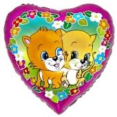 Herzluftballon, Katzen Inklusive Helium-Ballongas