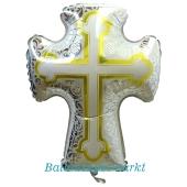 Luftballon Kreuz, zur Taufe, Kommunion, Konfirmation mit Helium