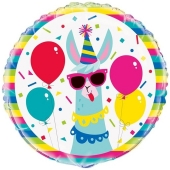 Party Lama Luftballon aus Folie