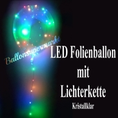 LED Heliumballon aus Folie mit Lichterketten