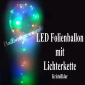 LED Heliumballon aus Folie mit Lichterketten