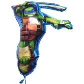 Folienballon Leonardo, Ninja Turtles, inklusive Helium-Ballongas