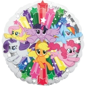 My Little Pony Gruppe Luftballon aus Folie ohne Helium