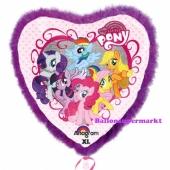 Luftballon My Little Pony, Herz mit Federrahmen, ohne Ballongas