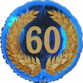 Lorbeerkranz 60, Luftballon aus Folie zum 60. Geburtstag, ohne Ballongas