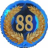 Lorbeerkranz 88, Luftballon aus Folie zum 88. Geburtstag, ohne Ballongas