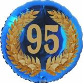 Lorbeerkranz 95, Luftballon aus Folie zum 95. Geburtstag, ohne Ballongas