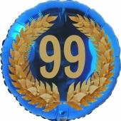 Lorbeerkranz 99, Luftballon aus Folie zum 99. Geburtstag, ohne Ballongas