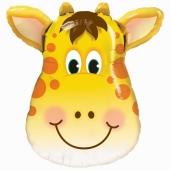 Lustige Giraffe Luftballon aus Folie mit Helium