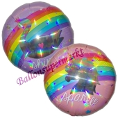 Folienballon Magical Rainbow inklusive Helium