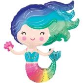 Meerjungfrau, Folienballon mit Ballongas-Helium