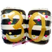 Luftballon Pink & Gold Milestone Birthday 30 zum 30. Geburtstag inklusive Helium