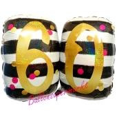 Luftballon Pink & Gold Milestone Birthday 60 zum 60. Geburtstag inklusive Helium