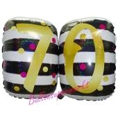 Luftballon Pink & Gold Milestone Birthday 70 zum 70. Geburtstag inklusive Helium