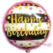 Geburtstags-Luftballon Pink & Gold Milestone Birthday, ohne Helium-Ballongas