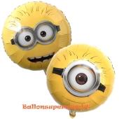 Minions Face Luftballon aus Folie, ohne Helium