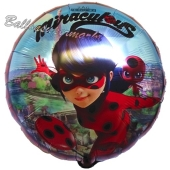 Miraculous Ladybug Luftballon aus Folie in Rundform