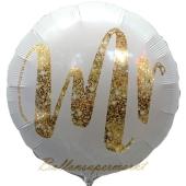 Mr gold Glimmer Rundballon, Luftballon aus Folie zur Hochzeit
