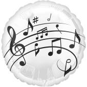 Luftballon aus Folie mit Ballongas, Music Fun