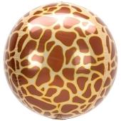 Orbz Luftballon aus Folie, Animal Print Giraffe, inklusive Helium