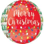 Orbz Luftballon aus Folie, Merry Christmas, inklusive Helium/Ballongas