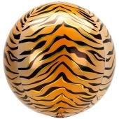 Orbz Luftballon aus Folie, Animal Print Tiger, inklusive Helium
