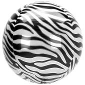 Orbz Luftballon aus Folie, Animal Print Zebra, inklusive Helium
