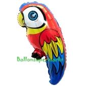 Folienballon Ara, Papagei ohne Helium