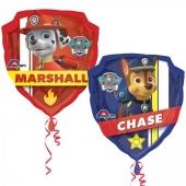 Luftballon Paw Patrol, Chase und Marshall Shape ohne Ballongas
