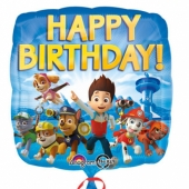 Paw Patrol Geburtstags-Luftballon aus Folie mit Helium