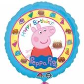 Peppa Wutz Happy Birthday, Luftballon aus Folie, ungefüllt