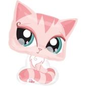 Folienballon Pink Cat inklusive Helium