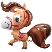 Luftballon Pony, braun ohne Ballongas