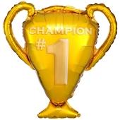 Champion Pokal Gold, Luftballon aus Folie mit Helium Ballongas