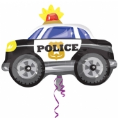 Polizeiauto, Luftballon aus Folie inklusive Helium-Ballongas