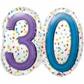 Luftballon Rainbow Birthday 30 zum 30. Geburtstag