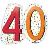 Luftballon Rainbow Birthday 40 zum 40. Geburtstag