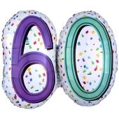 Luftballon Rainbow Birthday 60 zum 60. Geburtstag