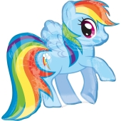 Luftballon My Little Pony, Rainbow Dash, ohne Ballongas