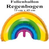 Regenbogen, Folienballon mit Ballongas-Helium