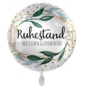 Folienballon zum Ruhestand ohne Helium