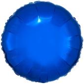 Runder Luftballon aus Folie, Blau, 45 cm