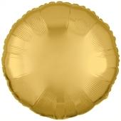 Rundluftballon Gold, 45 cm mit Ballongas Helium