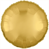 "Rundluftballon aus Folie, Gold, 18"""