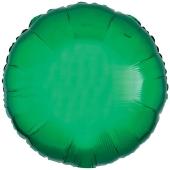 Rundluftballon Grün, 45 cm mit Ballongas Helium
