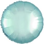 """Runder Luftballon aus Folie, Hellblau, 18"""""""