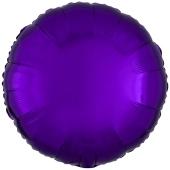 "Runder Luftballon aus Folie, Lila, 18"""